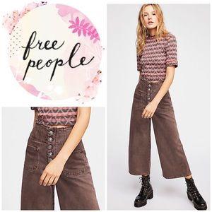 New Free People Wide Crop Jeans